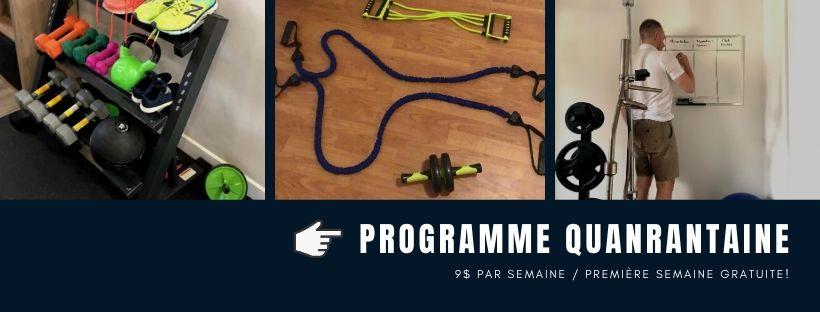 programme quanrantaine